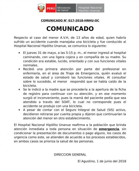 COMUNICADO Hipolito Unanue-1
