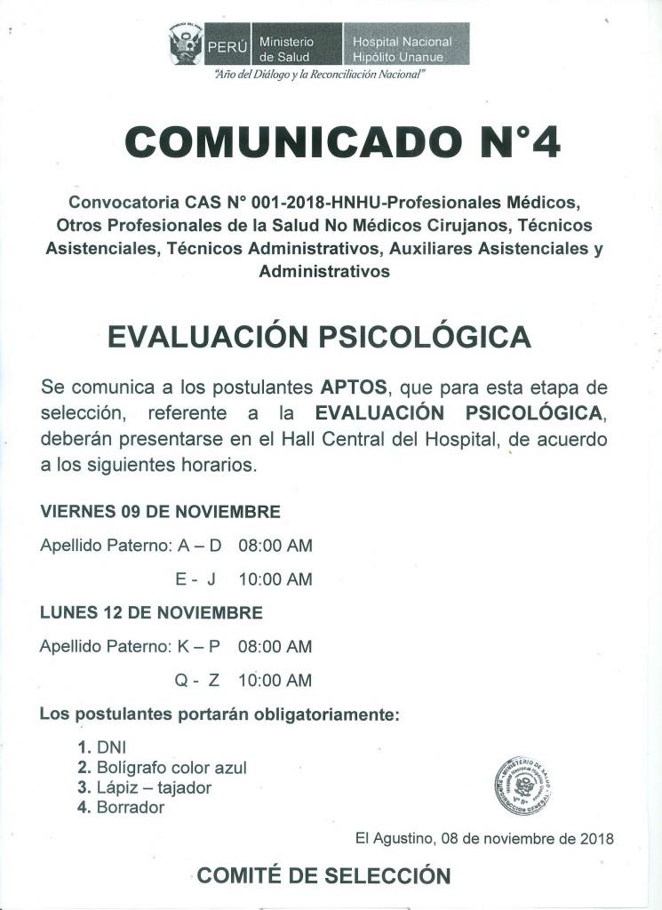 COMUNICADO 4 CAS