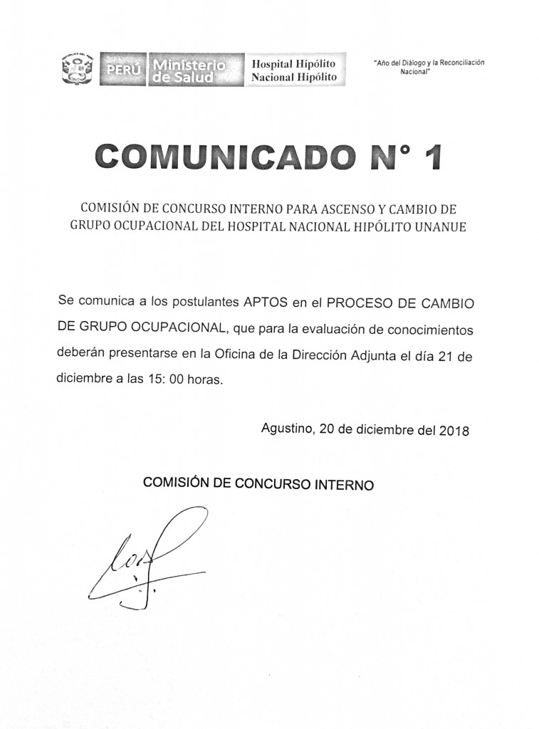 COMUNICADO 1 ASCENSO Y CAMBIO DE GRUPO OCUPACIONAL